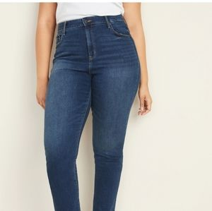 Old Navy high-rise slim straight jeans, cropped